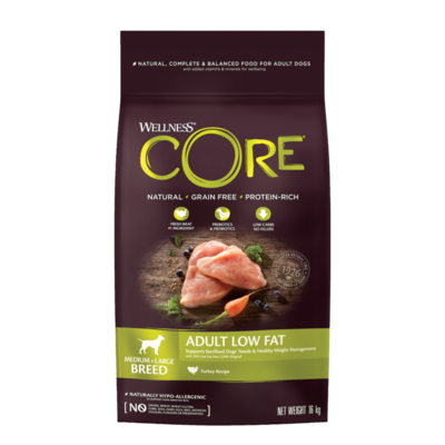 CORE Dog Medium & Large Breed ADULT LOW FAT Turkey DRY 1,8kg