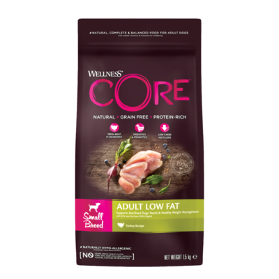 CORE Dog Small Breed ADULT LOW FAT Turkey DRY 1,5kg