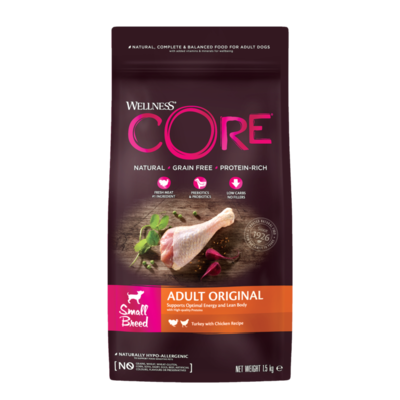 CORE Dog Small Breed ADULT ORIGINAL Chicken & Turkey DRY 1,5kg