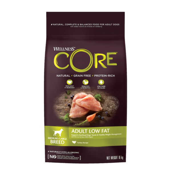 CORE Dog Medium & Large Breed ADULT LOW FAT Turkey DRY 12kg